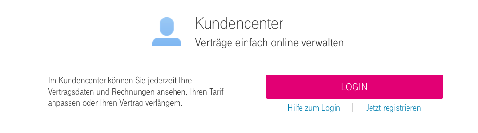 Deutsche Telekom Kundencenter Login