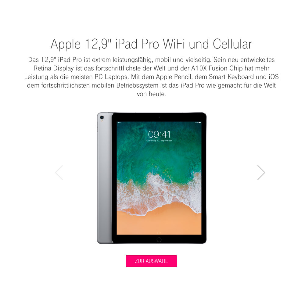 Aktionsangebot iPad Telekom